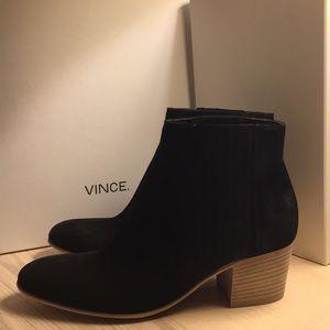 Vince / Haider / Black Suede / Size 7.5 M